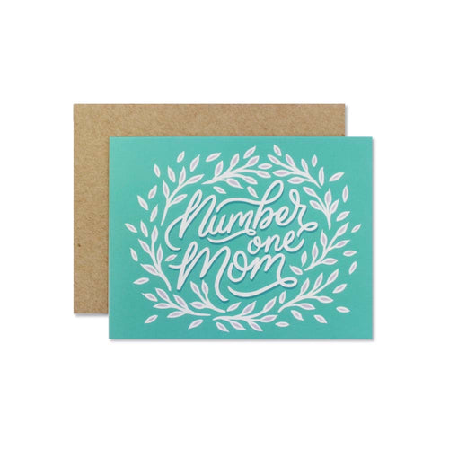Number One Mom Greeting Card