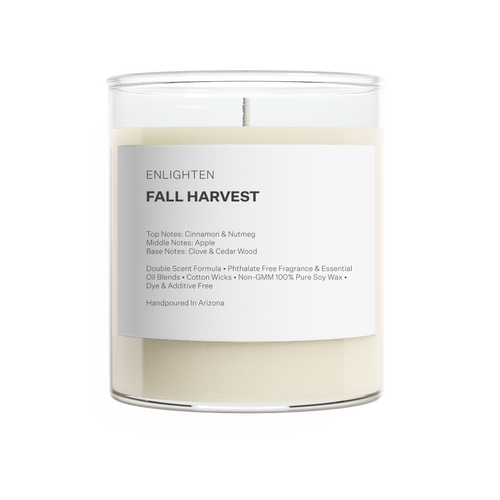 Fall Harvest Glass Tumbler Candle - 12oz