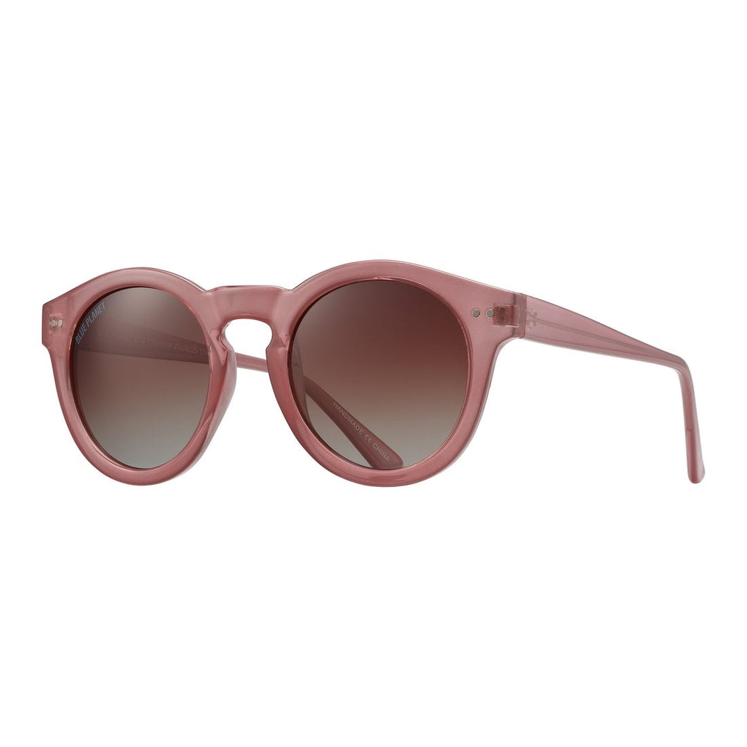 Blue Planet Sunglasses - CHARLEY in Rose + Gradient Brown Polarized Lens