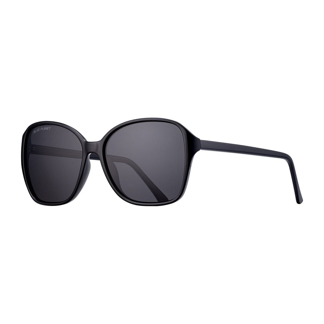 Blue Planet Sunglasses - ALTHEA in Onyx + Smoke Polarized Lens
