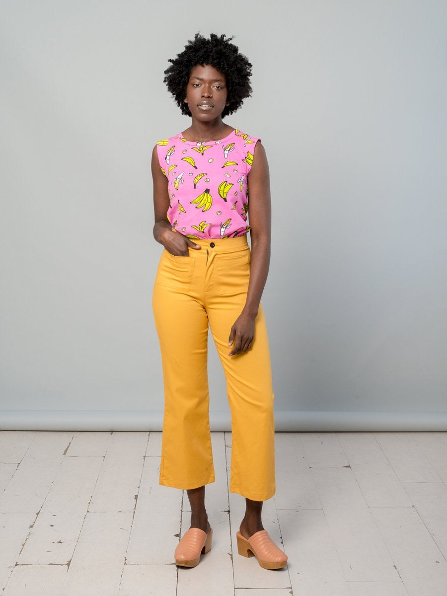 Casual Bell Mustard Twill by Nooworks