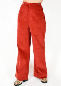 Spencer Stretch Chord Pant - Rust