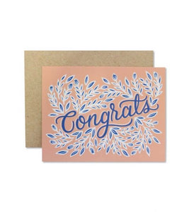Congrats Script Greeting Card