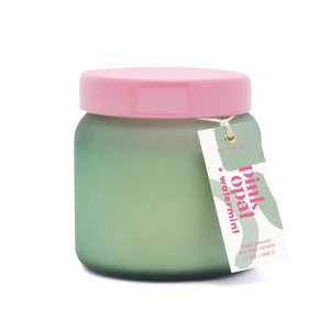 Lolli Colored Glass Candle - Pink Opal + Watermint 13oz.