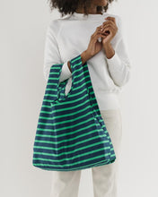 Load image into Gallery viewer, BAGGU Reusable Tote - Aloe Sailor Stripe