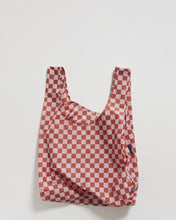Load image into Gallery viewer, BAGGU Reusable Tote - Rose Checkerboard