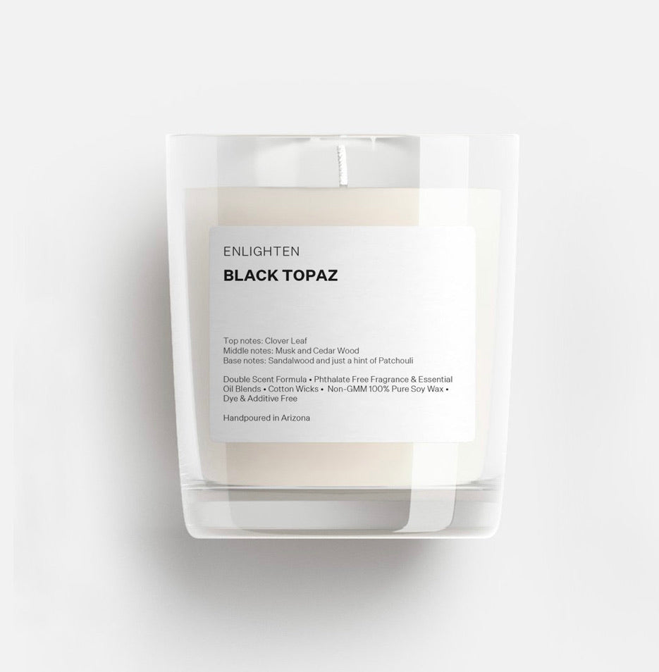 Black Topaz Mini Glass Tumbler Candle - 3oz