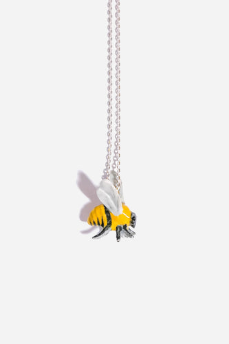 Ceramic Bee - Necklace