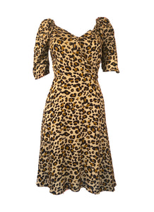 Leopard Cross Over Dress