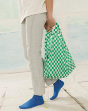 Load image into Gallery viewer, BAGGU Reusable Tote - Green Checkerboard