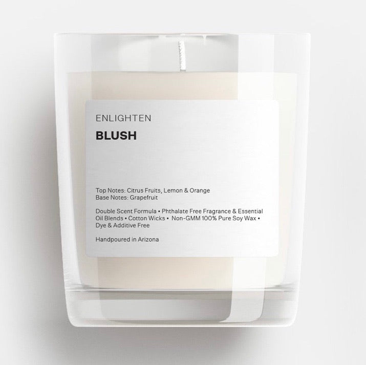 Blush Glass Tumbler Candle - 12oz