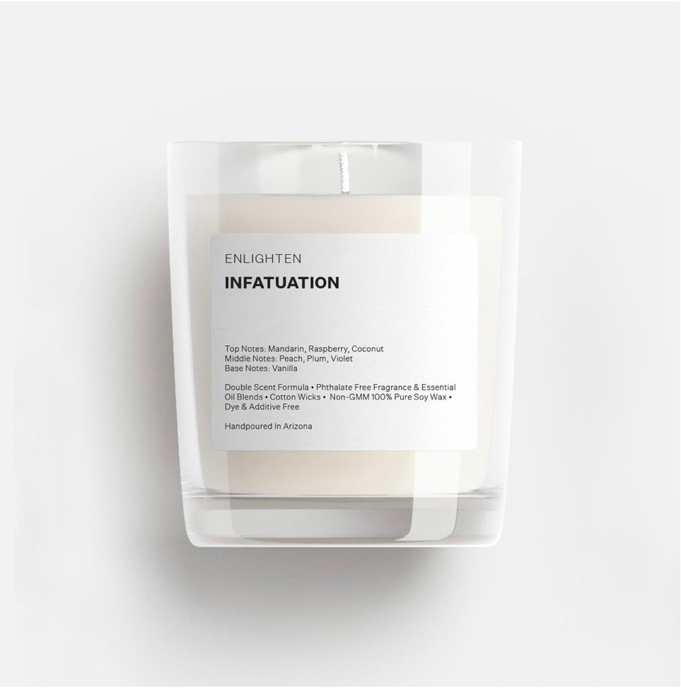 Infatuation Glass Mini Tumbler Candle - 3oz