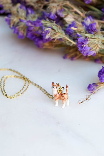 Preston the Tiger Cat - Necklace