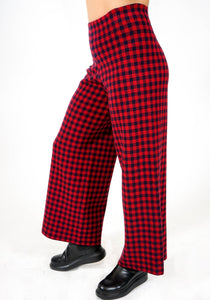 Check Double Knit Pant - Red/Navy
