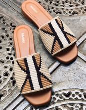 Load image into Gallery viewer, KAANAS Handwoven Bronte Sandal - Coffee