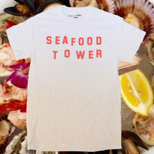 Seafood Tower Tee Shirt by Katie Kimmel