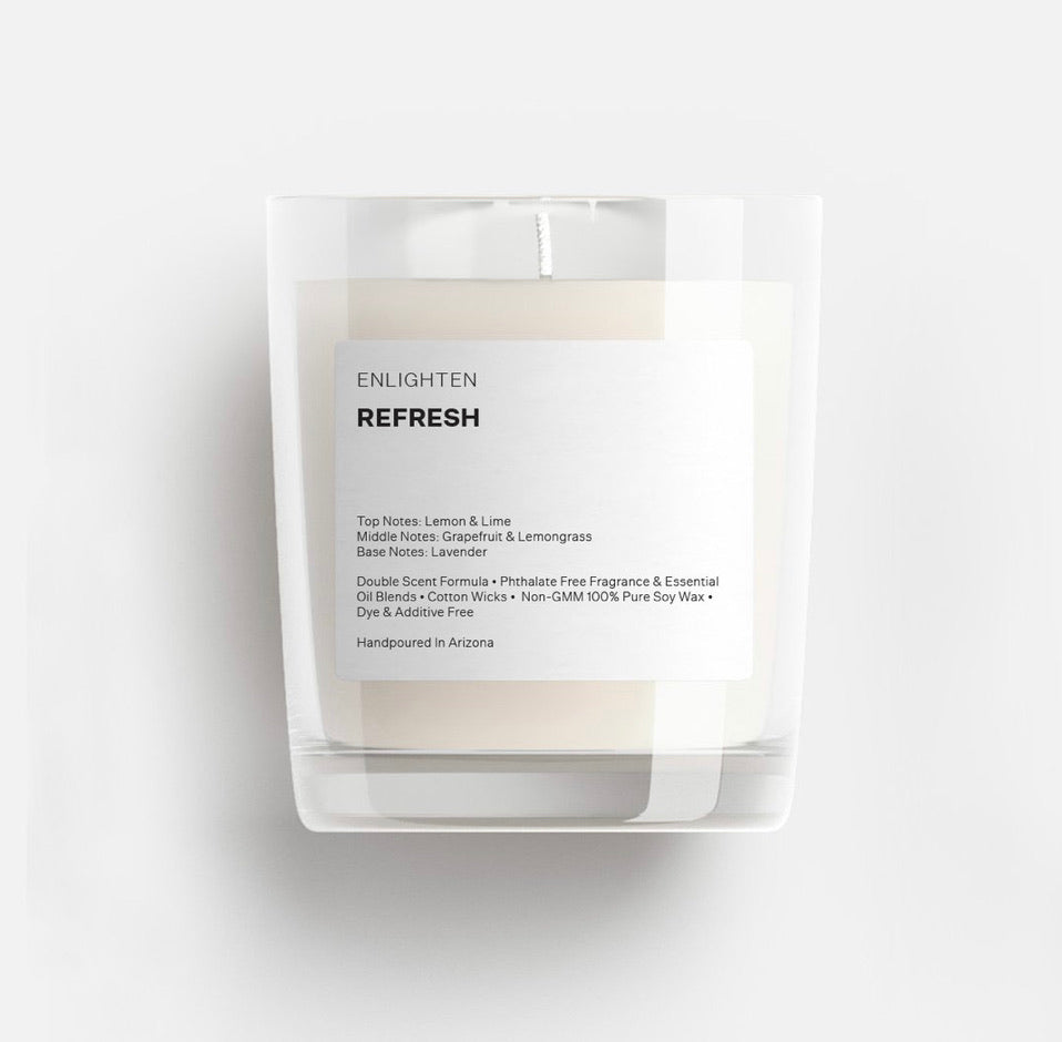 Refresh Glass Mini Tumbler Candle - 3oz