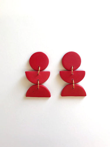 Dahlia Earrings - Red