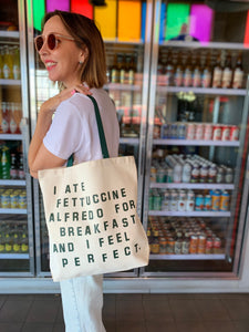 Fettuccine for Breakfast Tote Bag