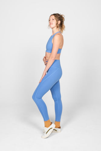 "Girlfriend Collective Compressive High-rise Legging 28.5"" - Periwinkle"