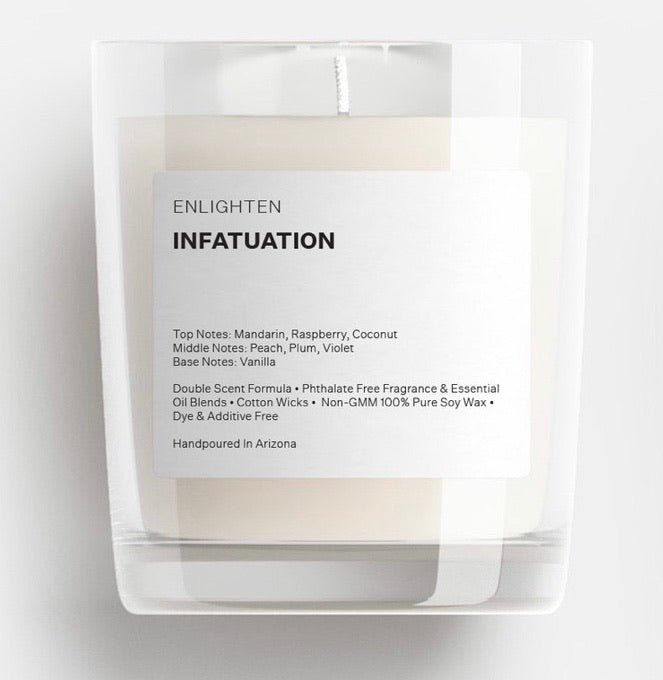 Infatuation Glass Tumbler Candle - 12oz