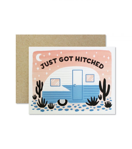 Just Got Hitched Greeting Card