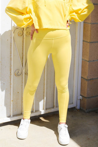 "Girlfriend Collective Compressive High-rise Legging 23 3/4""- Lemon"
