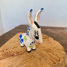 Load image into Gallery viewer, Mini Handmade Ceramic Donkey - Blue