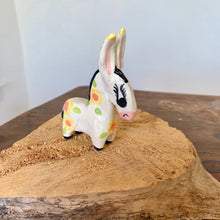 Load image into Gallery viewer, Mini Handmade Ceramic Donkey - Yellow