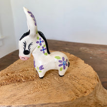 Load image into Gallery viewer, Mini Handmade Ceramic Donkey - Purple