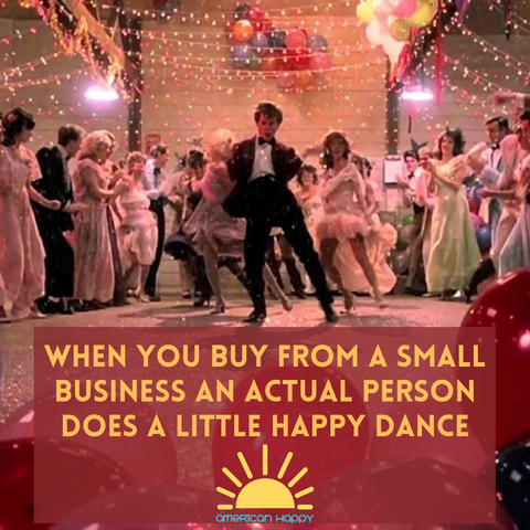 small business Footloose happy dance