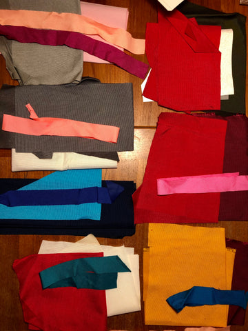 color-blocking pack cloth