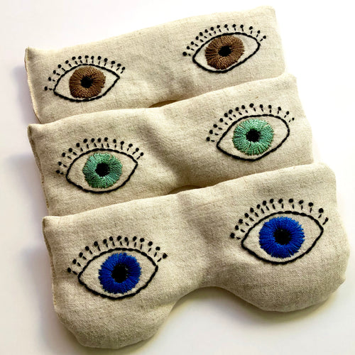 Luxurious Embroidered Eye Pillow