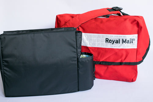 British Royal Mail Courier Messenger Bag with Organizer Insert