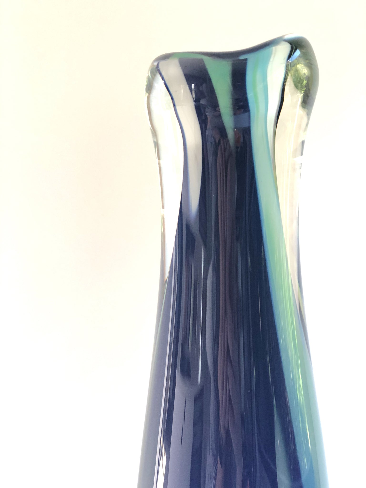 Tall vessel blue marble mix