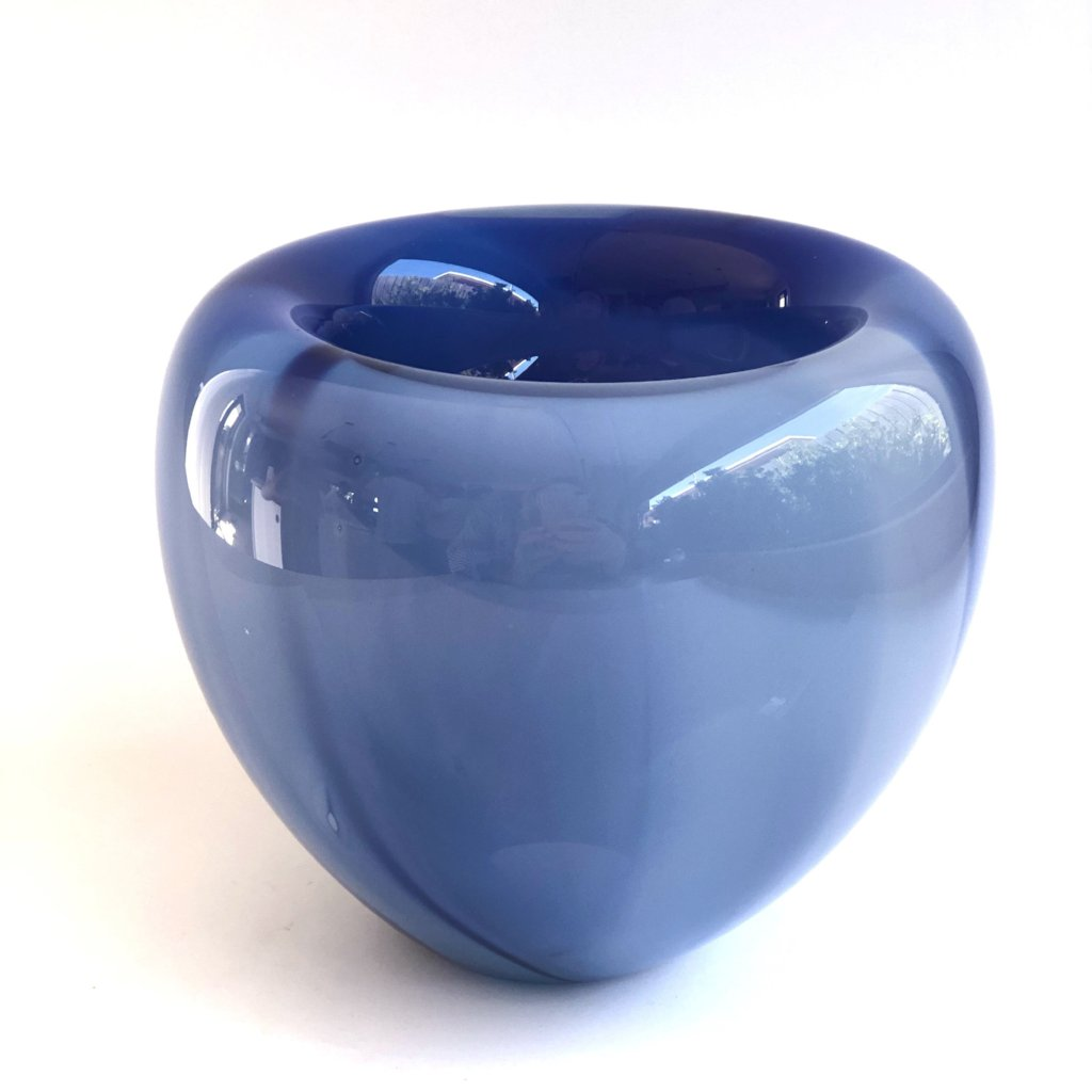 Pinch bowl marbled navy blue mix
