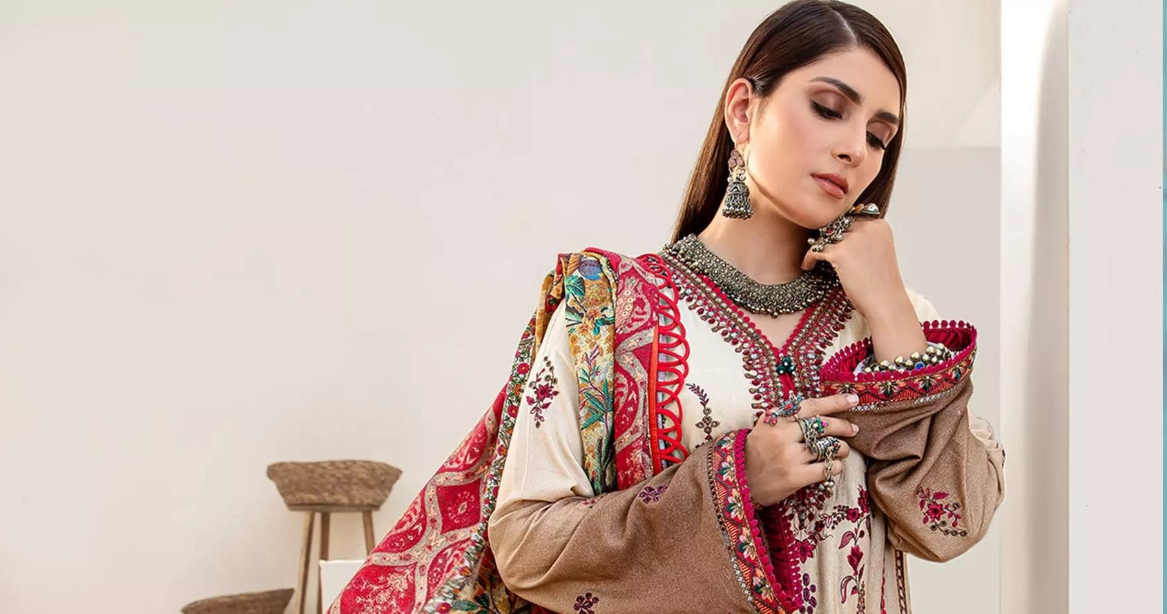 Noor Winter Embroidered Shawl 2020