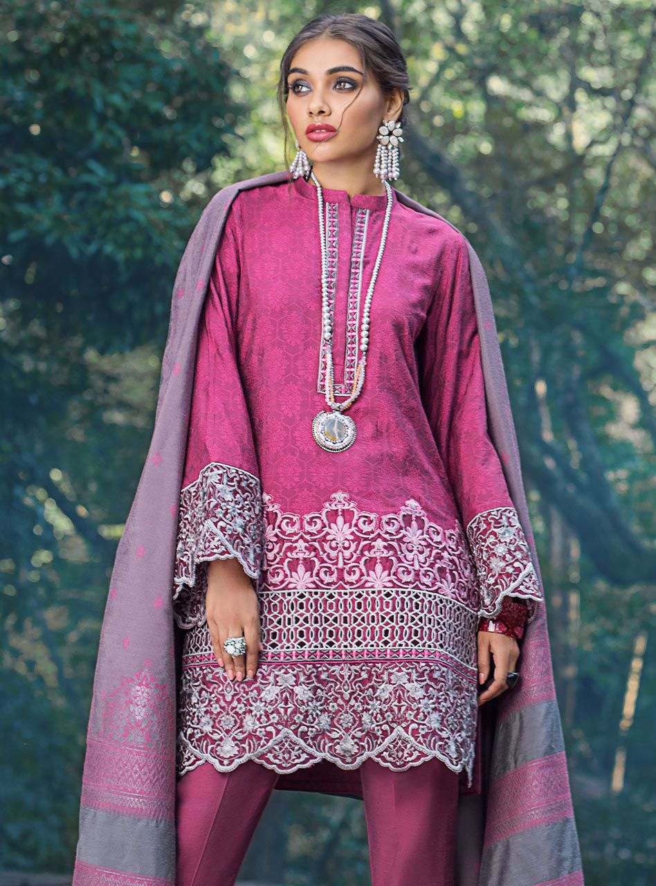 Rose Breeze (Zainab Chottani Luxury Shawl Collection)