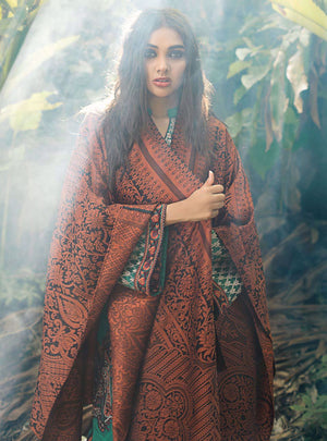 Cedar Haze (Zainab Chottani Luxury Shawl Collection)