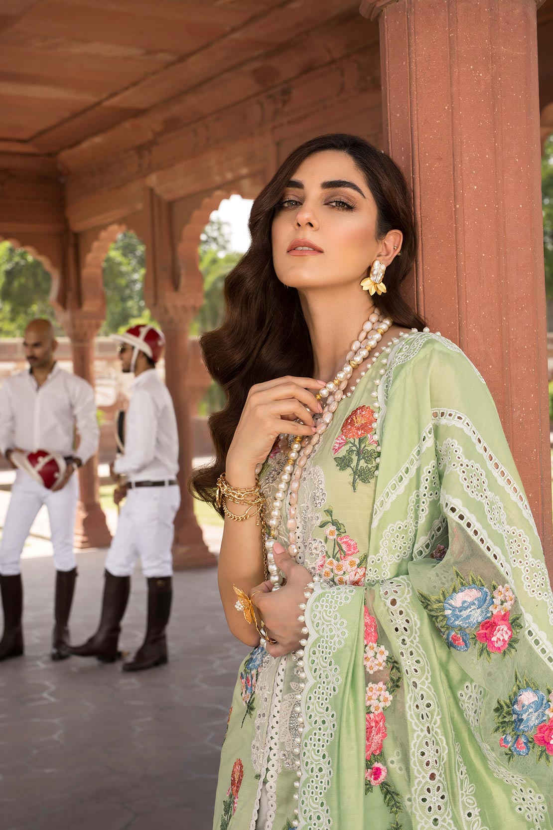 A Lacey Summer - Parakeet - [Crimson by Saira Shakira Luxury Lawn'19]