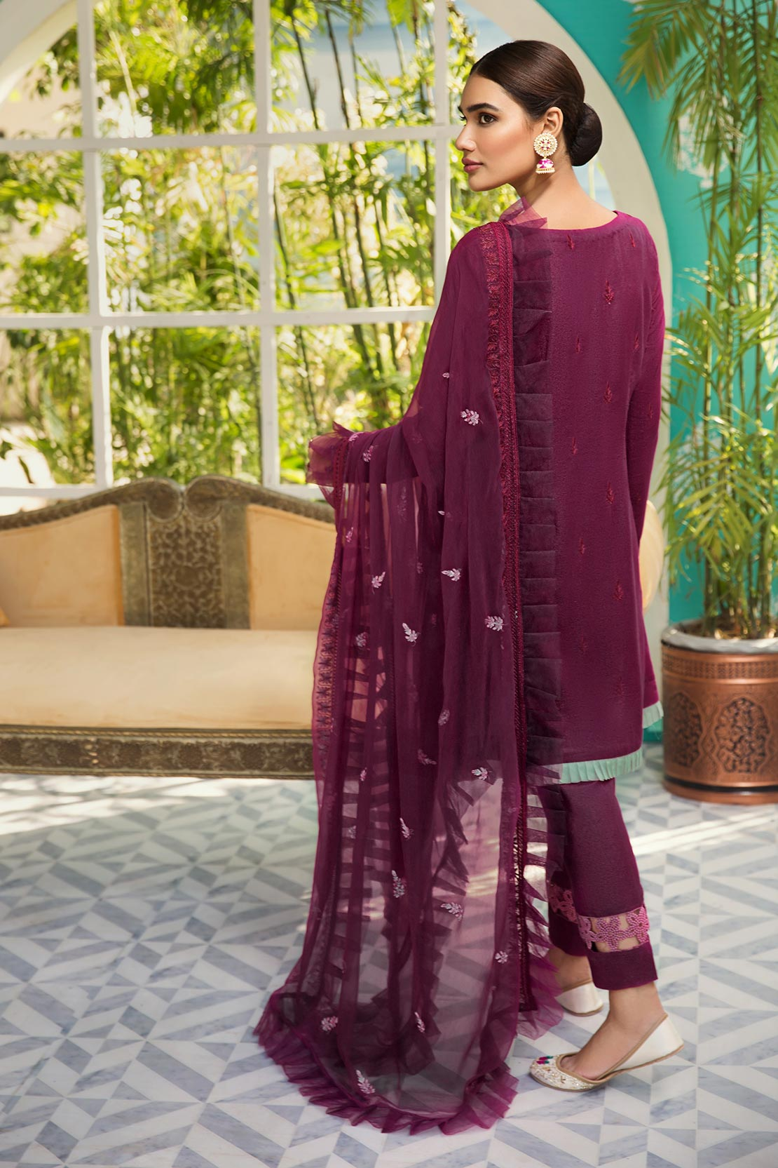 D705-B (Raaya - Embroidered Karandi Edition 2019)