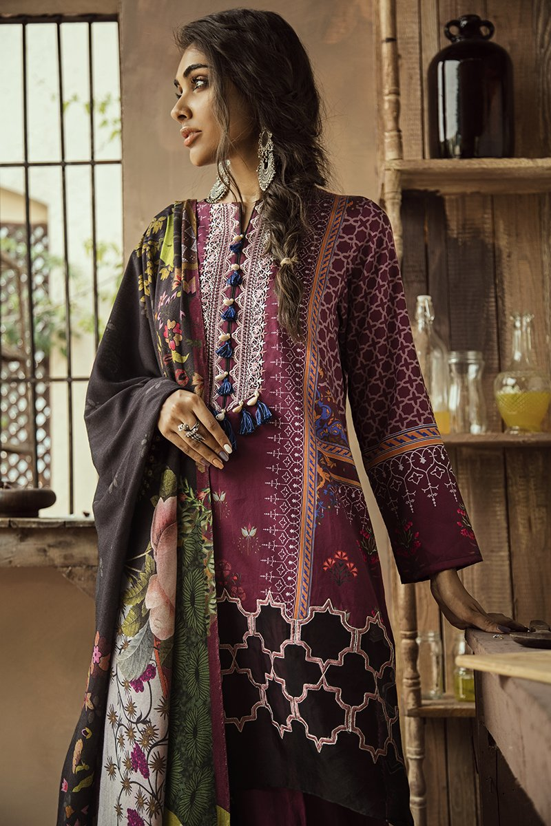 MULBERRY CRIMSON (CROSS STITCH - AANGAN COTTON SATIN'19)