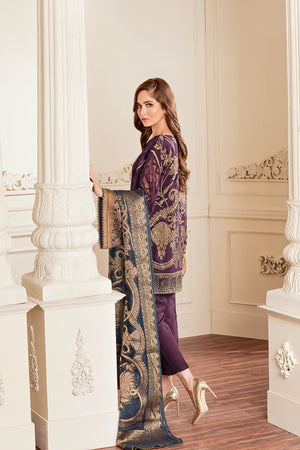 Amethyst (Baroque Chantelle Embroidered Chiffon)