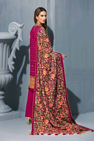 Pink 3Pc APE-10 [GulAhmed Poshak-e-Chinar Embroidered Shawl Collection]