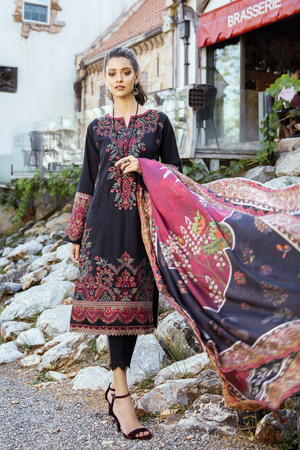 IL20-07 BEETROOT (3PC) | IZNIK | LUXURY LAWN'20