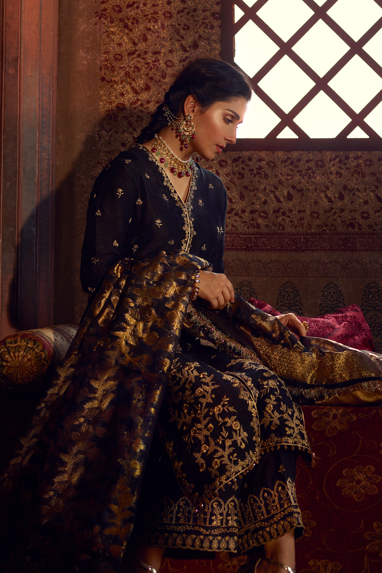 Ziya QF - 07 (Qalamkar Raiza Wedding Collection)
