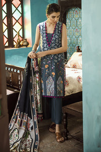 RAVEN FLORAL (CROSS STITCH - AANGAN COTTON SATIN'19)