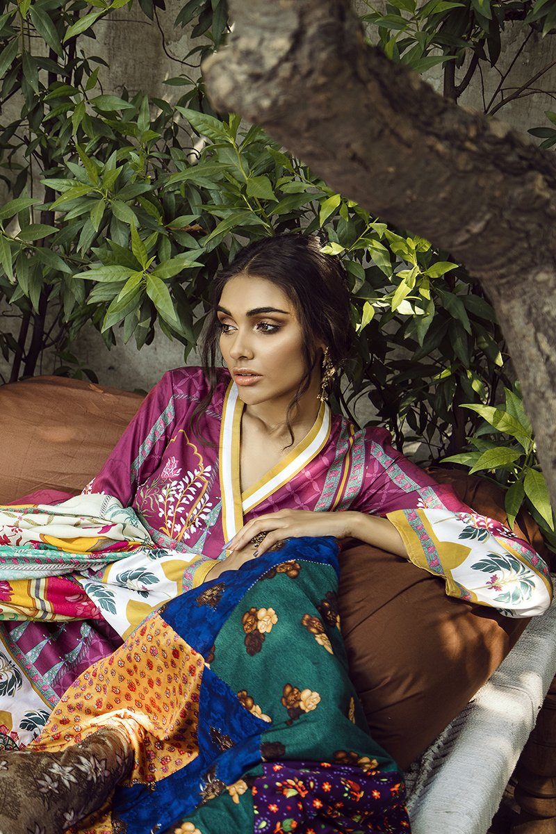 PERSIAN SAGE (CROSS STITCH - AANGAN COTTON SATIN'19)