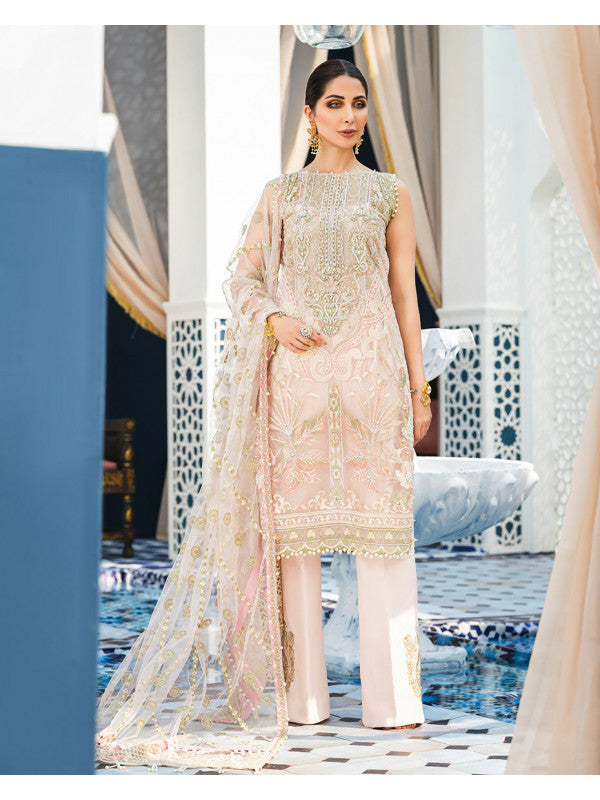 Ines D-1 (3-Piece Embroidered Net Suit) | Gulaal | Adila Unstitched Luxury Formals