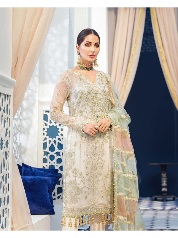 Nora D-3 (3-Piece Embroidered Chiffon Suit) | Gulaal | Adila Unstitched Luxury Formals